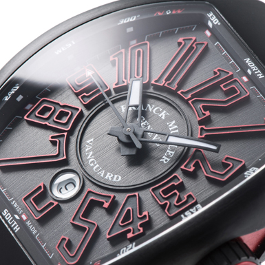 watch 6642c 7378b フランク・ミュラー ヴァンガード V45SCDT NRBRER ブラック USED ...