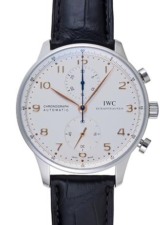 IWC ポルトギーゼ クロノグラフ IW371445 ホワイト 新品 14060