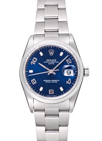 new product ecb2f 492a0 ロレックス オイスター パーペチュアル デイト 15200 ブルー ...