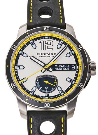 ショパール モナコグランプリ ヒストリック パワーコントロール 168569-3001 シルバー/ブラック 新品 27812