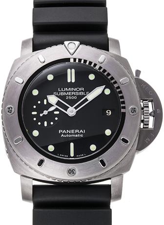 パネライ ルミノール サブマーシブル 1950 2500m 3デイズ オートマティック チタニオ PAM00364 ブラック USED 28794