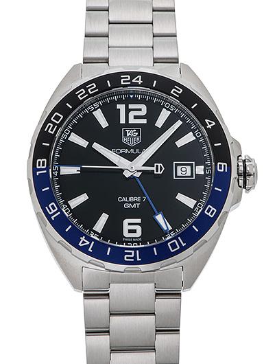 タグ・ホイヤー フォーミュラ1 GMT WAZ211A.BA0875 ブラック 新品 29986