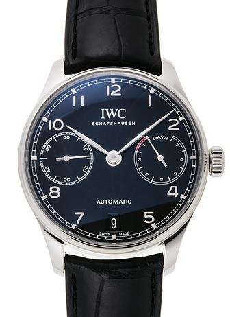 IWC ポルトギーゼ 7デイズパワーリザーブ IW500703 ブラック 新品 31202