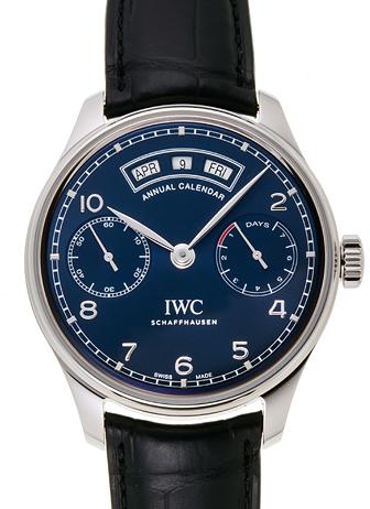 IWC ポルトギーゼ アニュアルカレンダー IW503502 ブルー 新品 31603