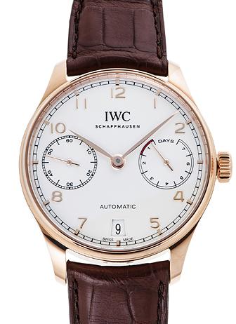 IWC ポルトギーゼ 7デイズパワーリザーブ IW500701 シルバー 新品 34825