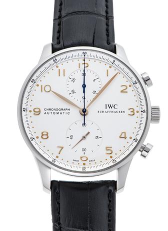 IWC ポルトギーゼ クロノグラフ IW371401 ホワイト USED 35853
