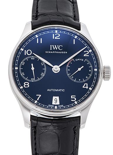 IWC ポルトギーゼ 7デイズパワーリザーブ IW500710 ブルー 新品 39381