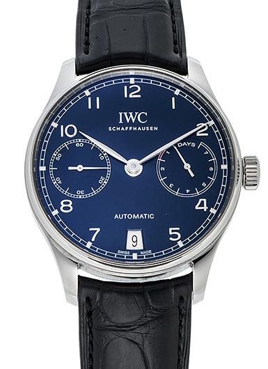 IWC ポルトギーゼ 7デイズパワーリザーブ IW500710 ブルー