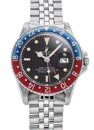 ロレックス GMTマスター 1675 ブラック(ブラウン) アンティーク 46596
