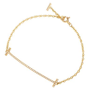 ティファニー&Co./TIFFANY&Co. スマイル ブレスレット ダイヤモンド RG(ローズゴールド) ダイヤモンド 0.12ct/カラット 36667206 新品 長さ:約16cm トップ幅:約4.5cm レディース 【ブランドジュエリー&アク...