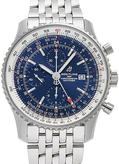 ブライトリング ナビタイマー1 クロノグラフ GMT46 A24322121C2A1(A242C-1NP) ブルー